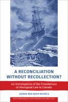 A Reconciliation Without Recollection? by Joshua Nichols
