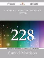 Advanced Level Test Manager (ISTQB)