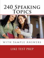 240 Speaking Topics
