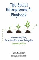 The Social Entrepreneur's Playbook
