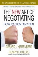 The New Art of Negotiating