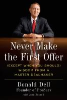 Never Make the First Offer
