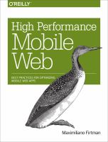 High Performance Mobile Web / Maximiliano Firtman