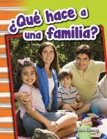 Qué hace a una familia?