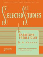 Selected studies for baritone, treble clef