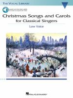 Christmas Songs and Carols for Classical Singers