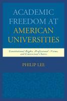 Academic Freedom at American Universities