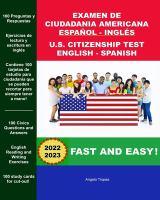 Examen De Ciudadania Americana, Español Y Inglés