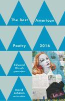 The Best American Poetry, 2016