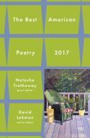 The Best American Poetry 2017