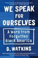 Cover of We Speak for Ourselves: A
