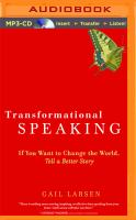 Transformational Speaking