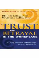 Trust and Betrayal in the Workplace