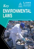 Key Environmental Laws