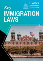 Key Immigration Laws