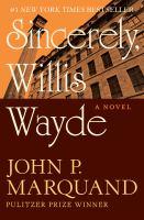 Sincerely, Willis Wayde