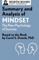 Summary and Analysis of Mindset