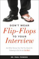 Don't Wear Flip-Flops To Your Interview