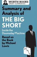 Summary And Analysis Of The Big Short: Inside The Doomsday Machine