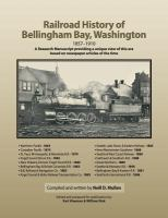 Railroad History of Bellingham Bay, Washington, 1857-1910