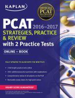 PCAT®, 2016-2017