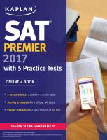 SAT Premier ... With 5 Practice Tests