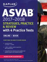 ASVAB 2017-2018 Strategies, Practice & Review