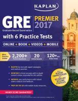 GRE® Graduate Record Examination Premier 2017