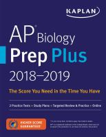 AP Biology Prep Plus 2018-2019