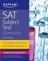 SAT Subject Test. Chemistry