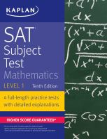 SAT Subject Test. Mathematics Level 1