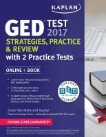 GED Test 2017 Strategies, Practice & Review With 2 Practice Tests: Online + Book (Revised, Revised)