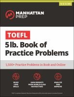 TOEFL 5 Lb. Book of Practice Problems