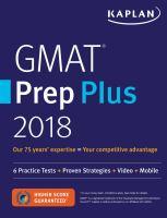 GMAT® Prep Plus 2018