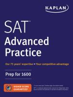SAT® Advanced Practice