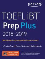 TOEFL IBT Prep Plus, 2018-2019