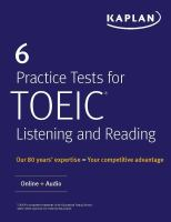6 Practice Tests for TOEIC