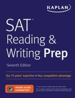 SAT Reading & Writing Prep