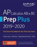 AP Calculus AB & BC Prep Plus 2018-2019