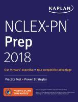 Kaplan NCLEX-PN Prep 2018