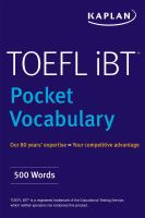 TOEFL pocket vocabulary.