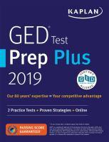 GED test prep plus 2019.