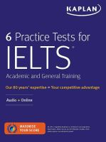 6 Practice Tests for IELTS