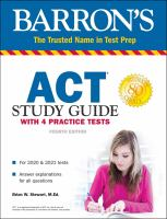 Barron's ACT Study Guide