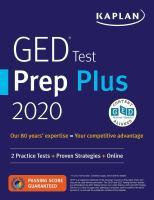 GED Test Prep Plus 2020