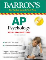 AP Psychology With 3 Practice Tests