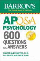 Barron's Ap Q&a Psychology