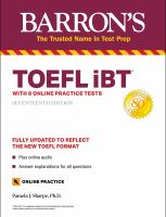 TOEFL IBT With 8 Online Practice Tests