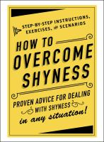 How to Overcome Shyness