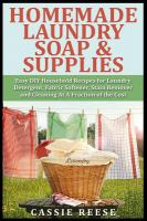 Homemade Laundry Soap & Supplies